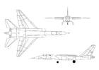 Kleurplaat straaljager A-5A Vigilante