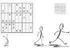 Kleurplaat sudoku - sporten