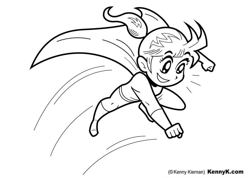 kleurplaat superheldin afb 20052