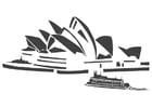 Kleurplaat Sydney