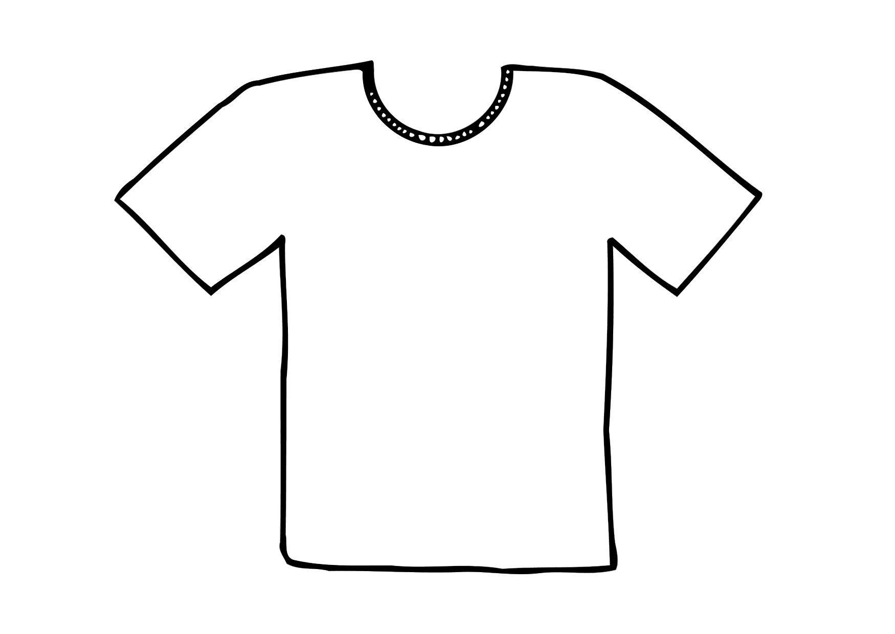 kleurplaat t shirt afb 12295