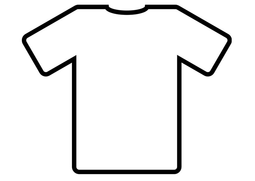 Kleurplaat t shirt afb 19012 for Tshirt coloring page