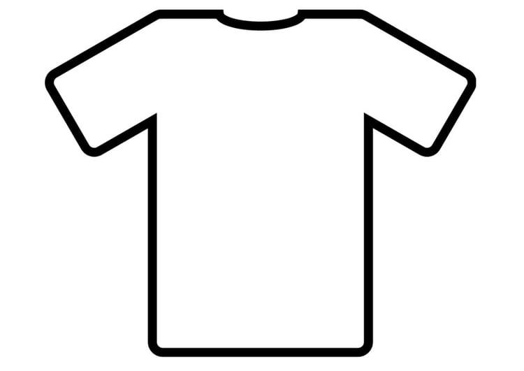 kleurplaat t shirt afb 19012