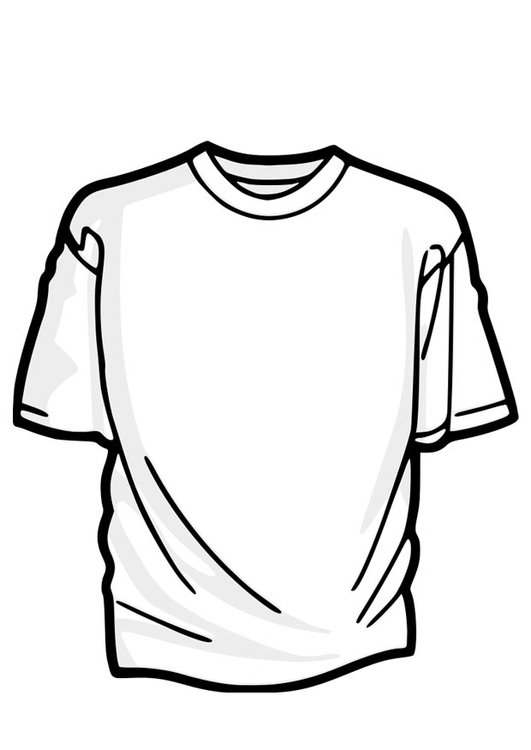 kleurplaat t shirt afb 22913