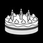 Kleurplaat taart-verjaardag