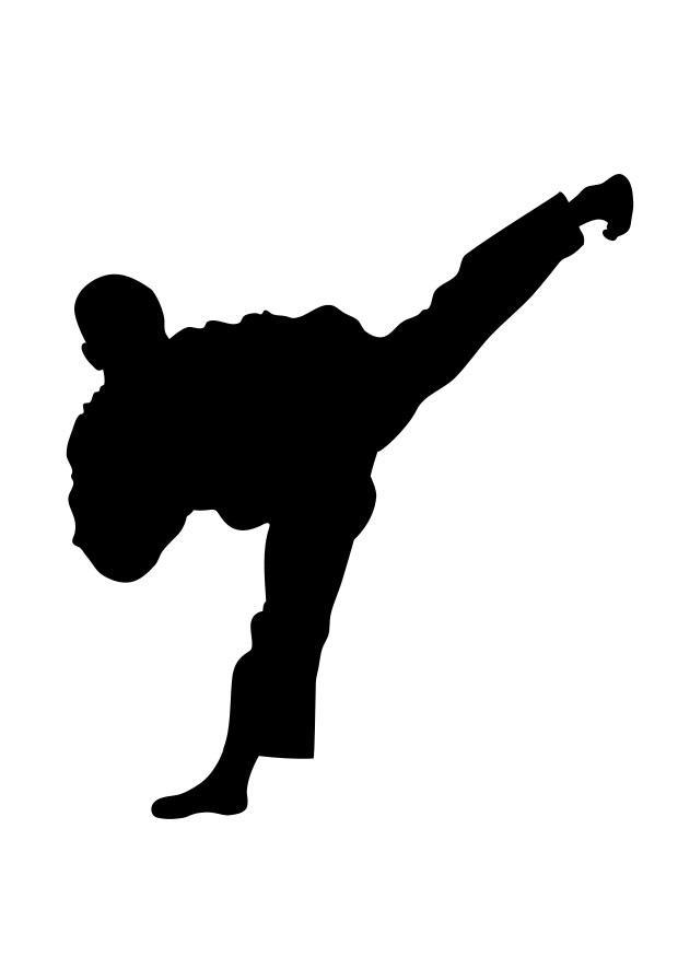 kleurplaat taekwondo afb 25708