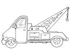Kleurplaat takelwagen