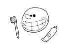 Kleurplaat tanden poetsen (2)