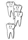 Kleurplaat tanden