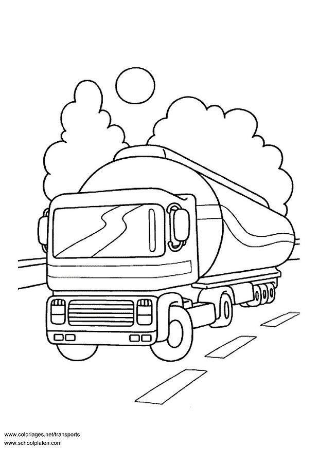 kleurplaat tankwagen gratis kleurplaten om te printen
