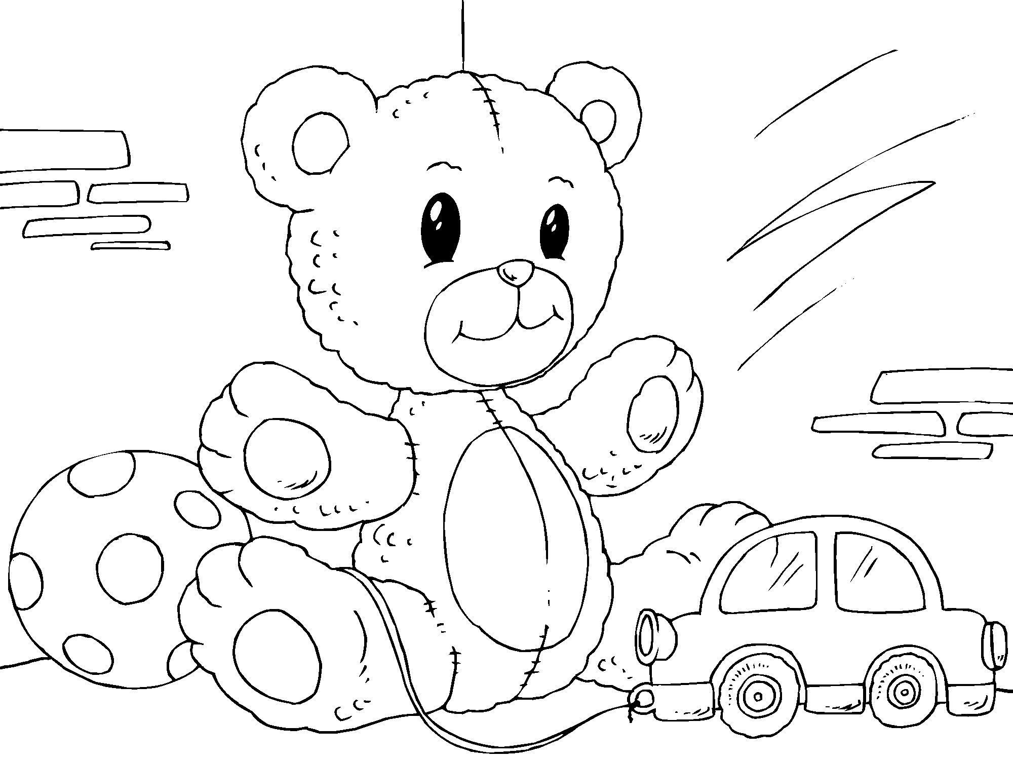 Kleurplaat Teddybeer Afb 22822