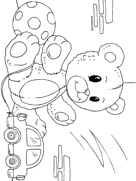 Afbeeldingen Bloemen Kleurplaten Kleurplaat Teddybeer Afb 22822