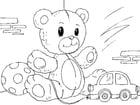 Kleurplaat teddybeer