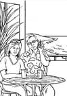 Kleurplaat telefoneren - gsm