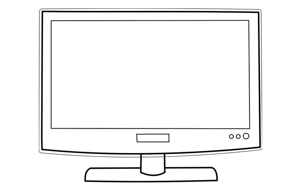 kleurplaat televisie gratis kleurplaten om te printen