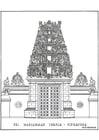Kleurplaat tempel