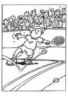 Kleurplaat tennis