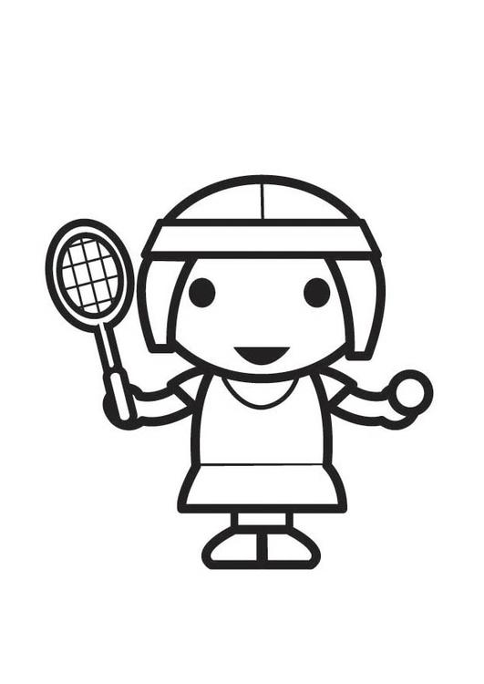 Kleurplaat Tennisspeelster Afb 18329