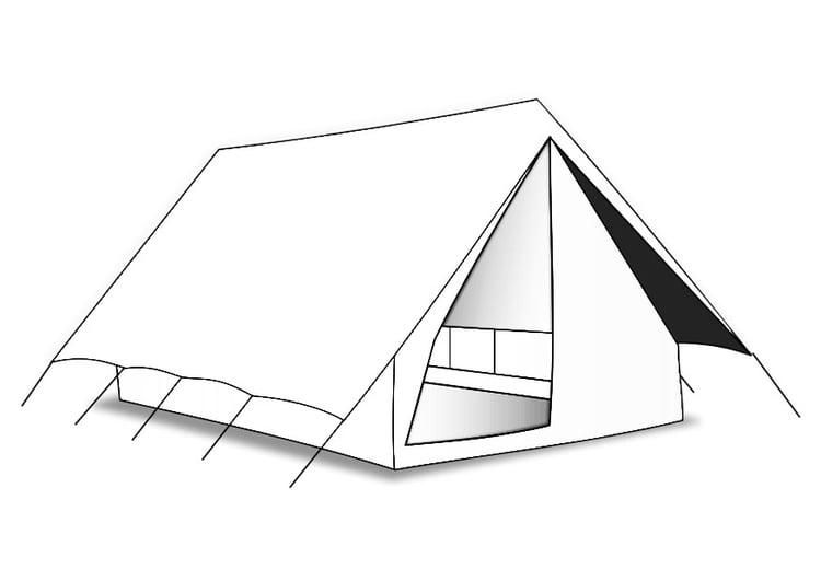 Kleurplaat Tent Afb 27597