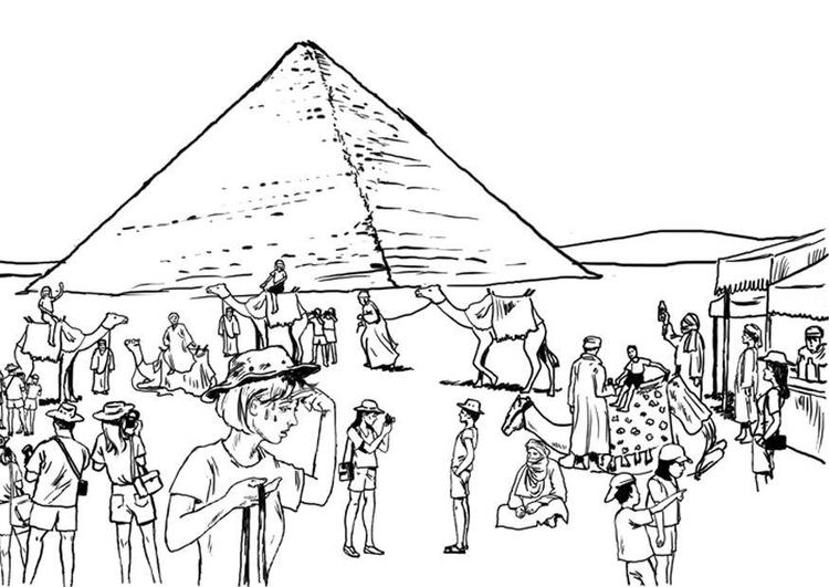 kleurplaat toerisme egypte gratis kleurplaten om te