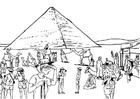Kleurplaat toerisme - egypte