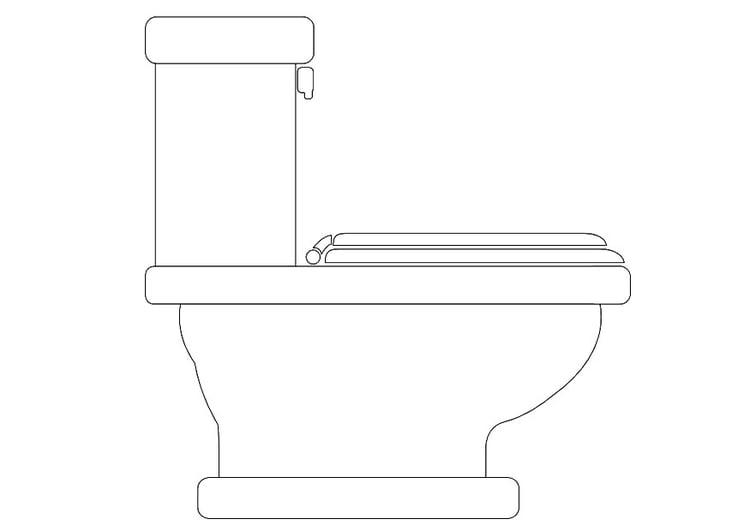 kleurplaat toilet afb 10091