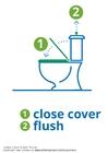 Kleurplaat toilet doorspoelen