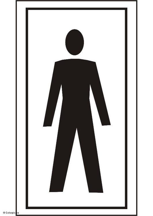 Kleurplaat Toilet Jongens Afb 5428