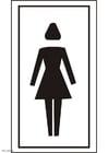 Kleurplaat toilet meisjes