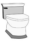 Kleurplaat toilet
