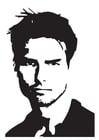 Kleurplaat Tom Cruise