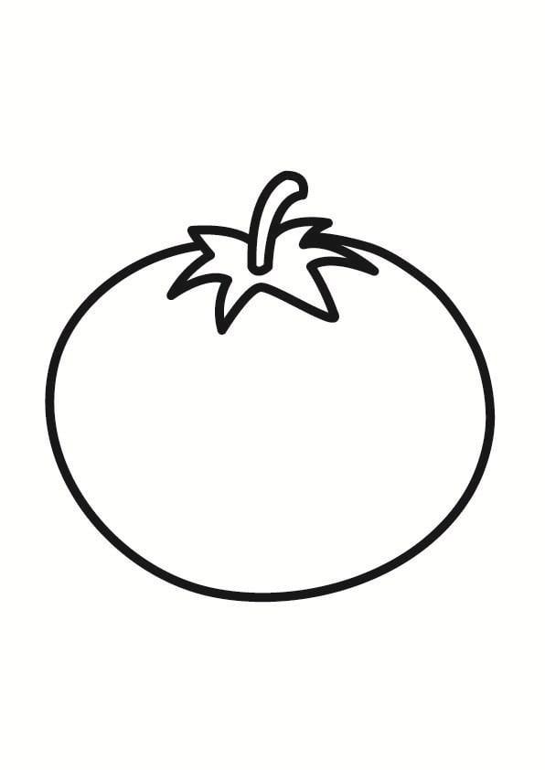 kleurplaat tomaat afb 23243