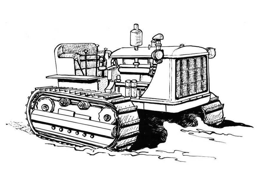 Kleurplaten Boerderij Machines.Kleurplaat Tractor Afb 19002