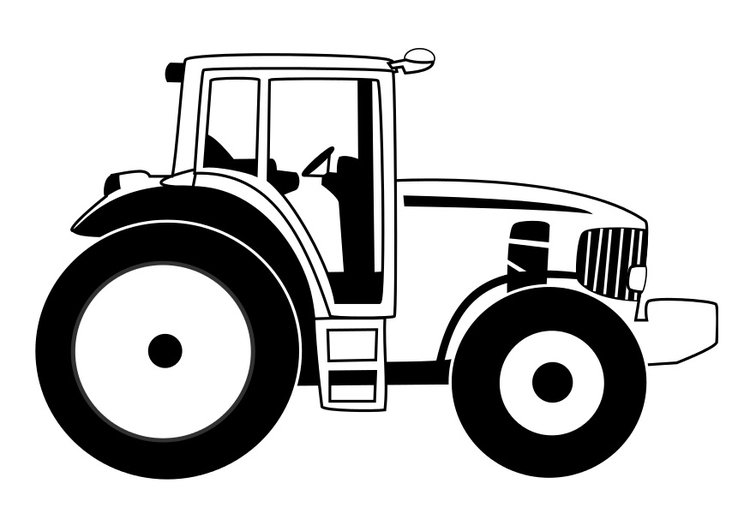 kleurplaat tractor afb 29531