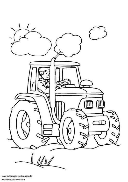 Kleurplaten Van Tractors.Kleurplaat Tractor Afb 3097