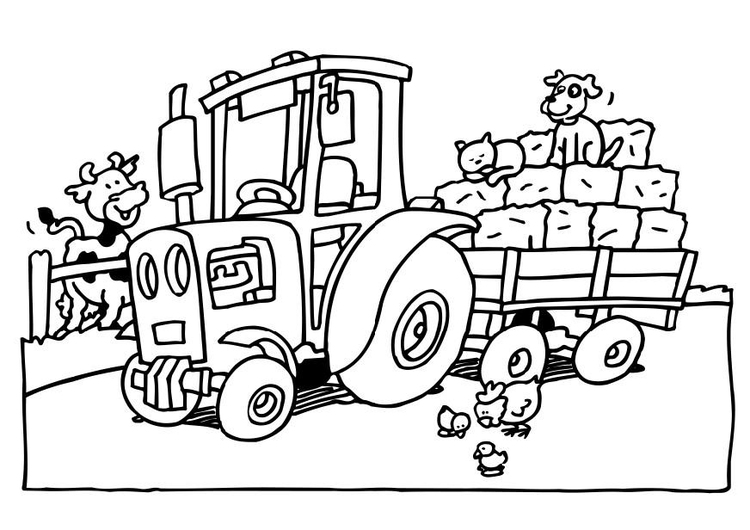 Kleurplaten Van Tractors.Kleurplaat Tractor Afb 6552