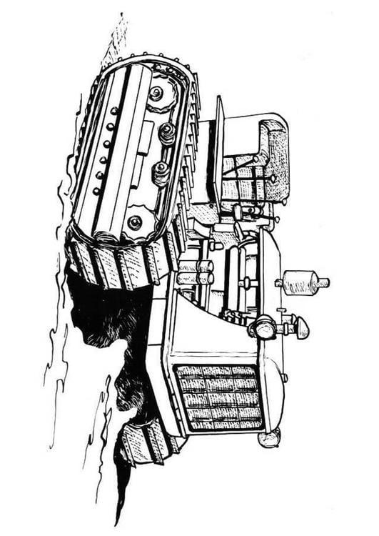 Kleurplaat Tractor Afb 19002