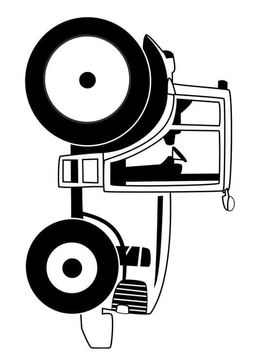 Afbeelding Tractor Kleurplaat Kleurplaat Tractor Afb 29531
