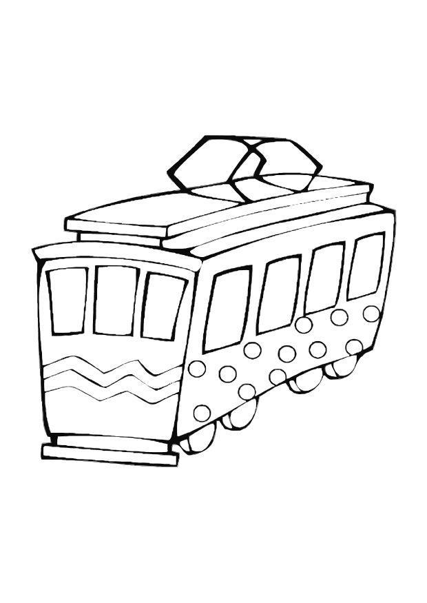 kleurplaat speelgoed tram afb 10608