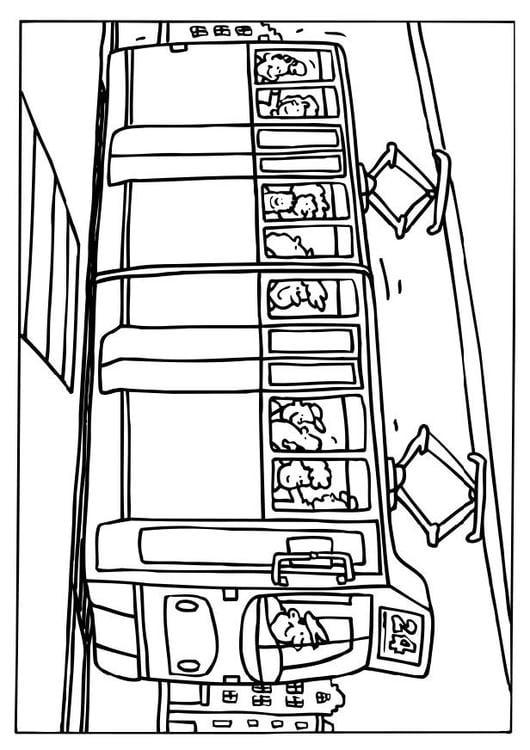Afbeeldingen Kleurplaten Bus Kleurplaat Tram Afb 6553 Images