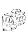 Kleurplaat speelgoed tram