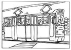 Kleurplaat tram