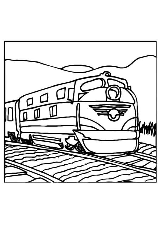 Kleurplaten Voertuigen Trein.Kleurplaat Trein Afb 10975