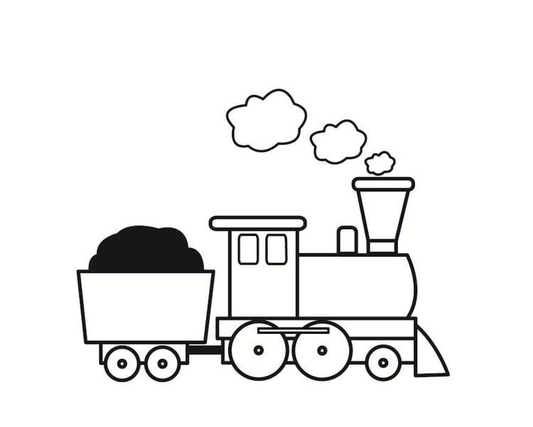 Kleurplaten Trein Met Wagon.Kleurplaat Trein Afb 23358