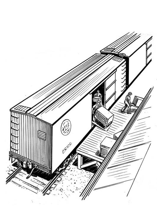 Kleurplaat Trein Lossen Afb 18941