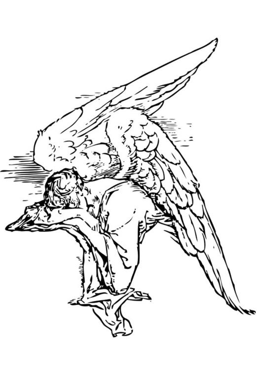 Kleurplaat Dood Kleurplaat Treurende Engel Afb 17367