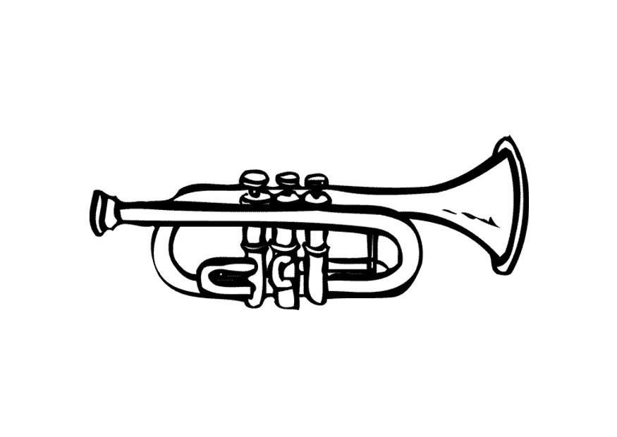 kleurplaat trompet gratis kleurplaten om te printen