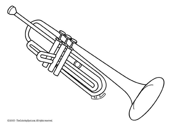 coloring pages of trumpets - photo#26