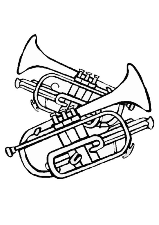 kleurplaat trompetten gratis kleurplaten om te printen