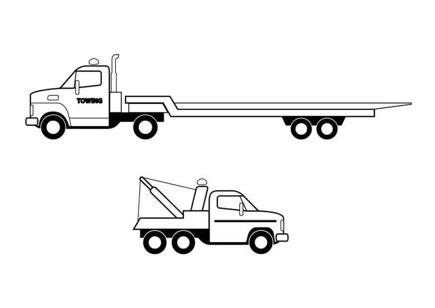Kleurplaat Trucks Afb 26293